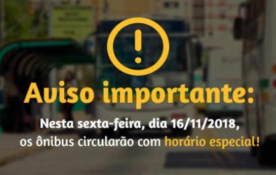 Nesta sexta-feira (16/11) os ônibus…
