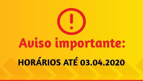 HORÁRIOS ATÉ 03.03.2020