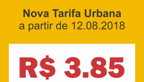 Nova Tarifa Urbana